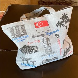 Handbags - Singapore Gray Tote Bag